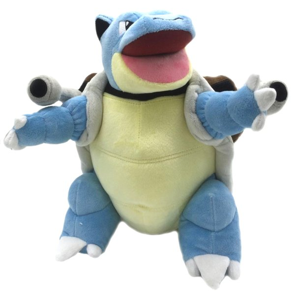 Blastoise Quality Tortoise Animal Plush Cute Toys For Children Gift Soft Quality Japan Kawaii Anime Doll Y19062704