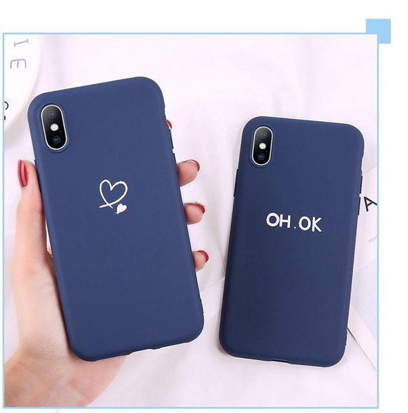 Lovebay Heart Pattern Phone Cases Cover For iphone 7 8 6 6S 5 5S Plus SE XS Max XR X Soft Silicone Ultra-thin Back Cover Shell