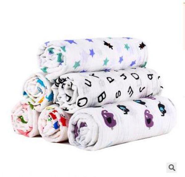 Baby Swaddles Muslin Cotton Soft Newborn Blankets Bath Gauze Infant Wrap sleepsack Stroller cover Play Mat Free Shipping