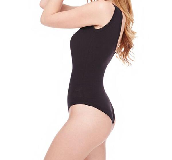 Negro mujeres atractivas del verano de una pieza Tamaño del bikini de Monokini del traje de baño sin respaldo acolchado XL L M S