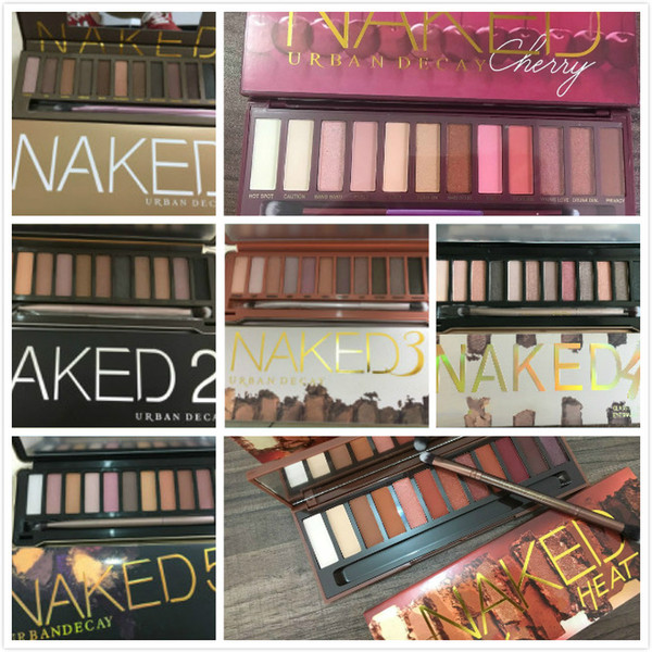 Naked eye hadow makeup eye hadow palette eye hadow pallet 12 color nude 1 2 3 5 heat cherry de cay makeup naked palette