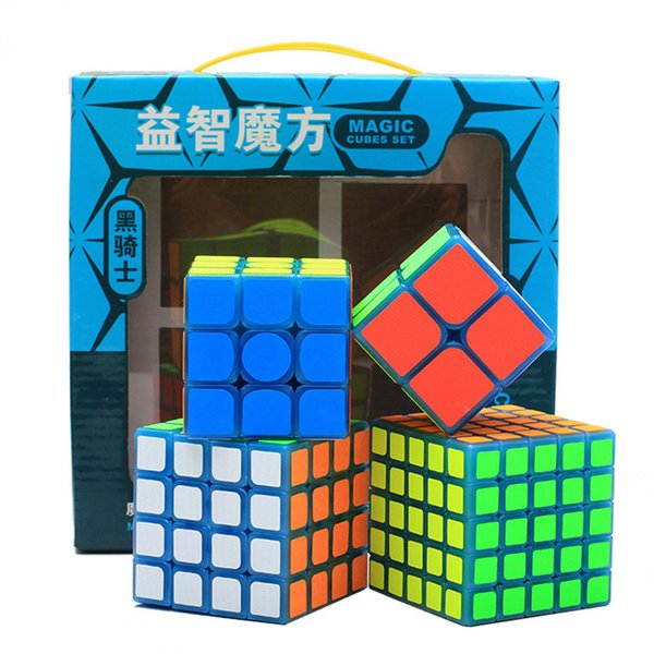 4pcs Set Magic Cube 2x2x2 3x3x3 4x4x4 5x5x5 Glow In The Dark Sticker Speed Cubes Puzzle Professional Toys Gift