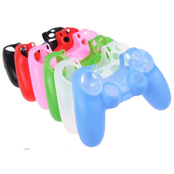 NUEVO Colorido Camo Gel de silicona suave Funda de goma Funda de agarre de piel para PS4 Controlador inalámbrico Funda Funda de agarre de piel juego