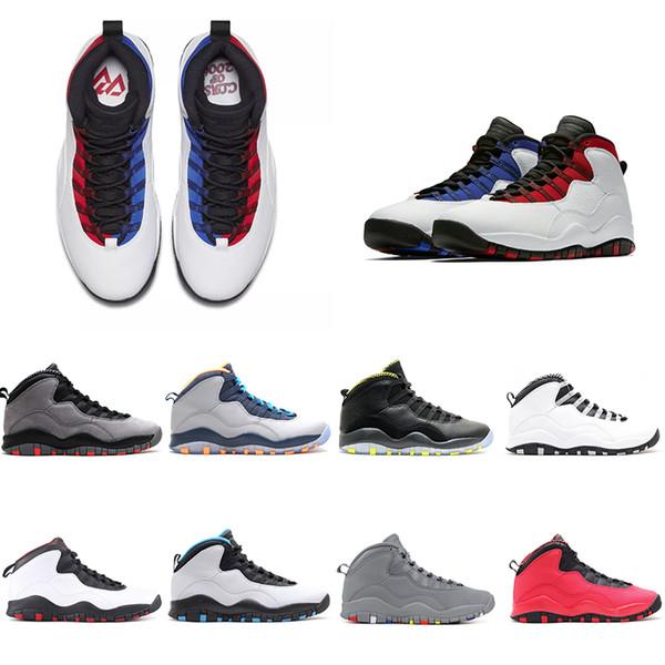 Novo cinza infravermelho 10 tênis de basquete 10s westbrook cimento chicago bobcats pó azul furtividade homens atletismo esportes tênis