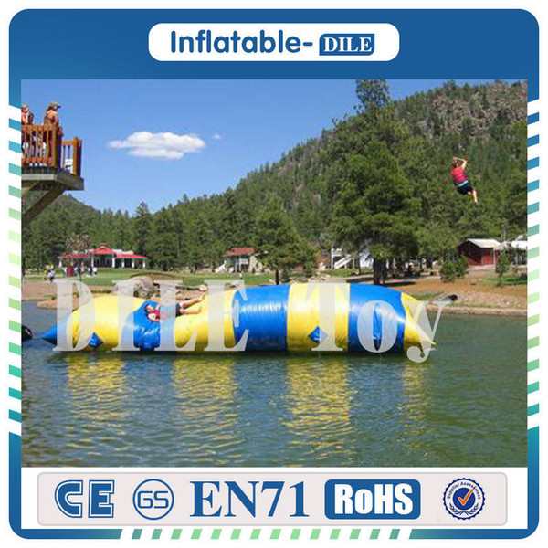 Hot Sale 7m*3m 0.9mm PVC Inflatable Water Blob Bouncing Pillow Jumping Pillow Water Bag With Free Pump