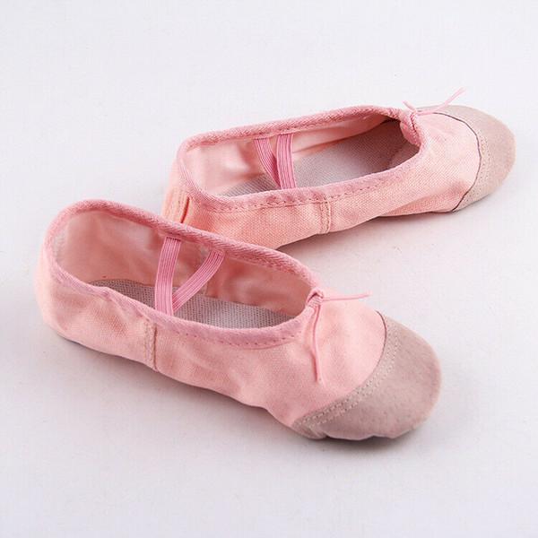Kid Girl Pink scarpe balletto ballo le dita dei piedi Bambino Bambini Shoes Professional Ladies raso di seta Pointe 2019