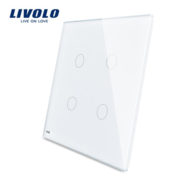 Livolo US Standard Glass Intelligent Touch Switch Panel for 1Gang 2Gang 3Gang Light Touch Switches 125mm*125mm