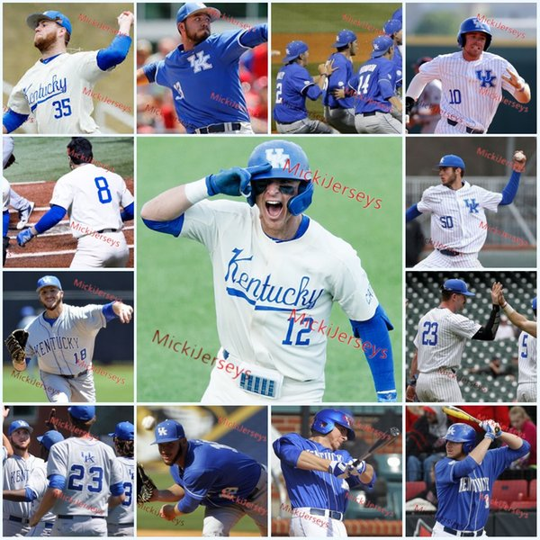 new styles 14ca0 bc356 Custom NCAA Kentucky Wildcats Baseball Jersey Alex Rodriguez Dalton Reed  Mason Hazelwood Zack Thompson T.J. Collett A. J. Reed UK Jersey UK 2019  From ...