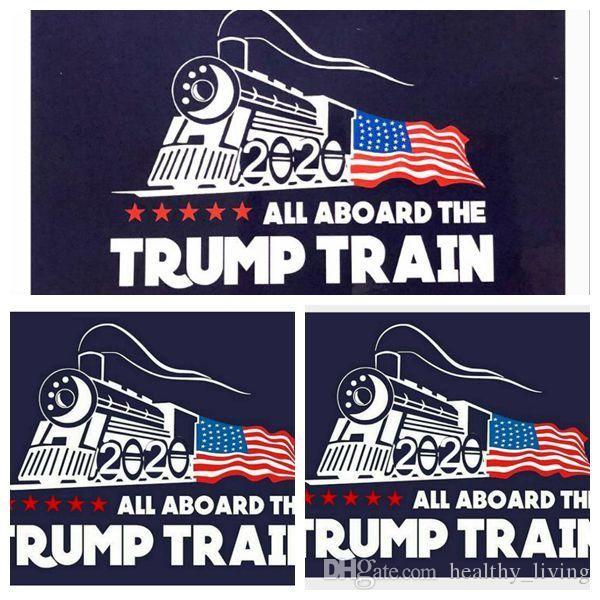 2020 Trump Auto Aufkleber Donald Iocomotive Aufkleber Zug Fenster Aufkleber Startseite Wohnzimmer Dekor Wandaufkleber DHL frei 111