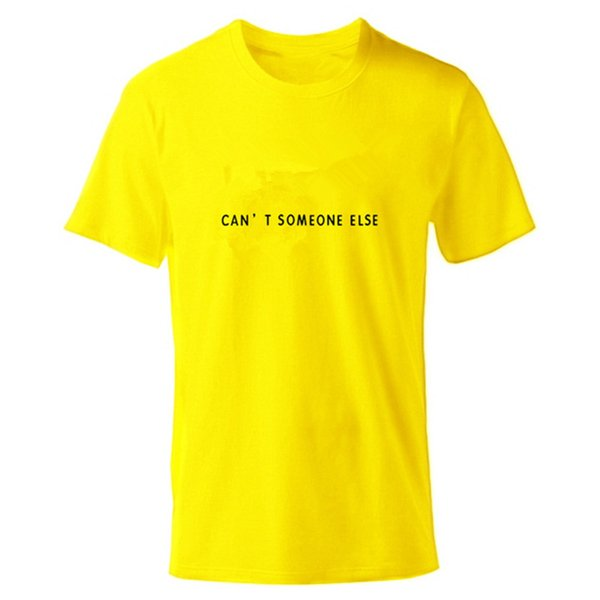 T Shirt Mens Tshirt O Round Neck High Quality T-Shirt Men Boys Yellow Summer Shirts Cartoon with Logo Size XS-2XL