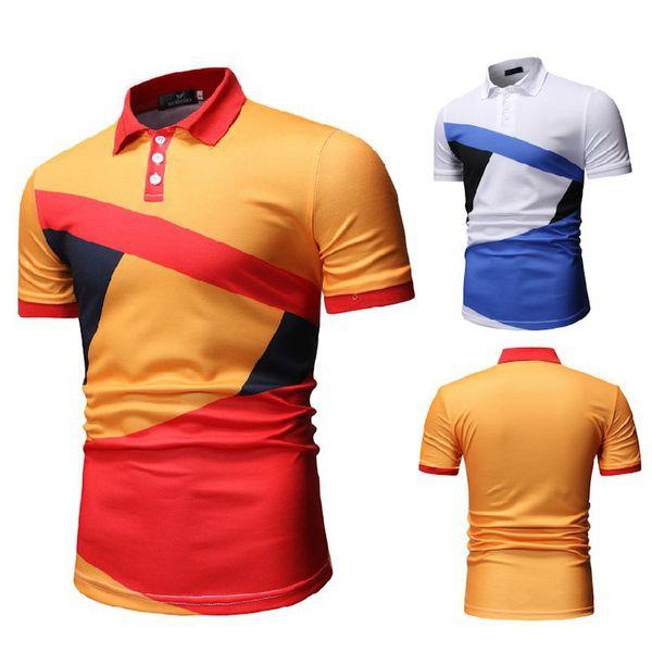 T-shirts à séchage rapide pour hommes, couleur numérique contrastée, taille haute, mode rue, mode homme