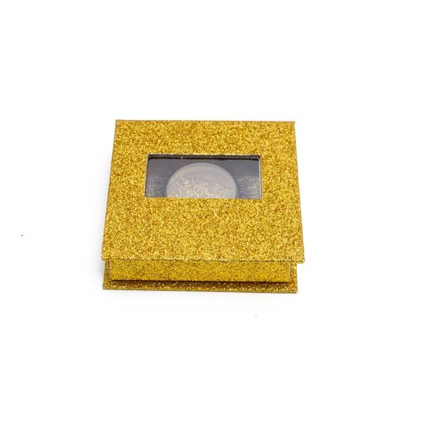 BIG EYE'S SECRET Golden Glitter Box Wholsale 3D Russia Volume Lash 5 Pairs 3D Faux Mink Strip Lash False Eyelash Free Shipping