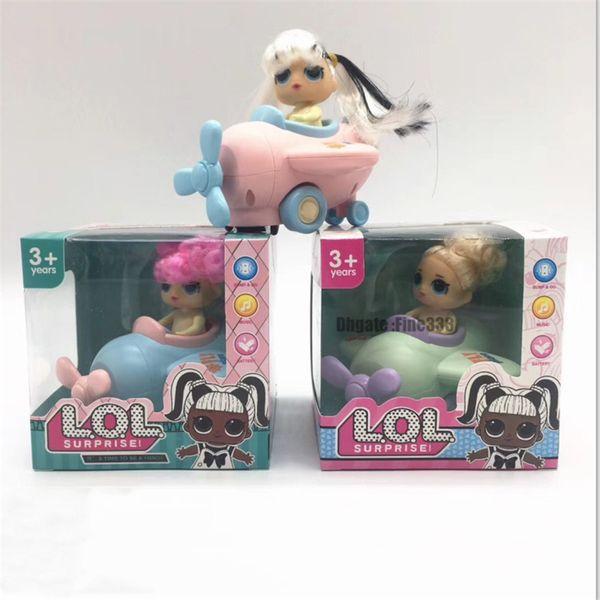 세상에 새로운 도착 장난감 비행 자동차 장난감 음악 2 모델 3 색 아이 인형 장난감