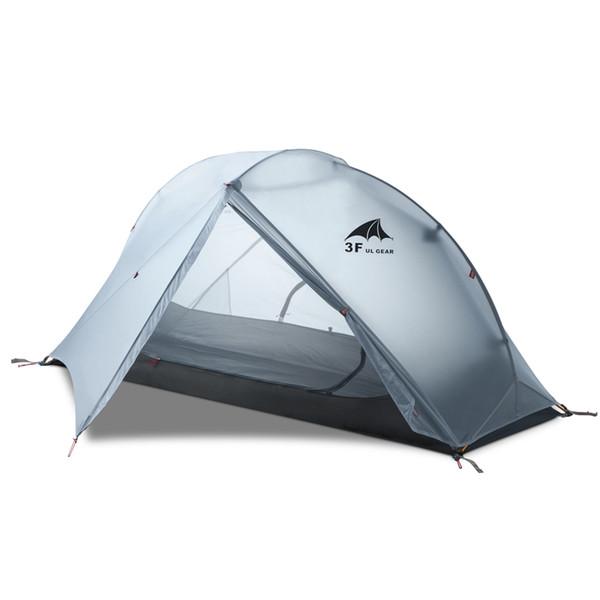 3F UL GEAR Oudoor Ultralight 1 Personne Camping Tente 3/4 Saison Professionnel 15D Nylon Silicon Tente Para Camping Foot Imprimer