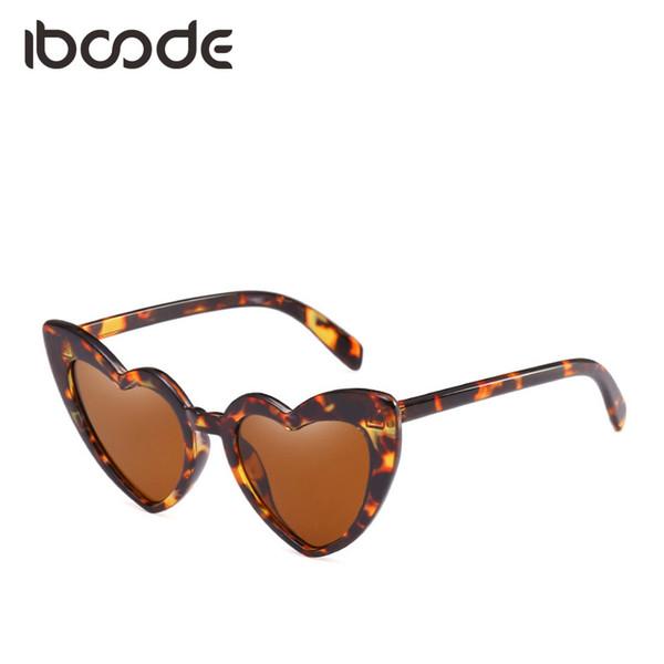 iboode Brand Designer for Women Sunglasses Heart Design Harajuku Style Personalized Shades Ladies Fashion Trendy Eyewear UV400