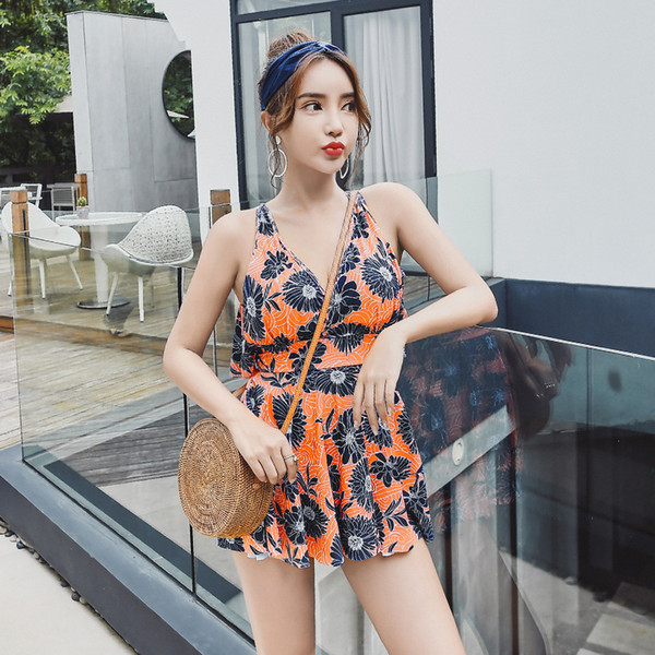 Women Bikini Push Up New Hot Sale bathing suit Korean Version Hot Style Cover Belly Slimming Swimsuit
