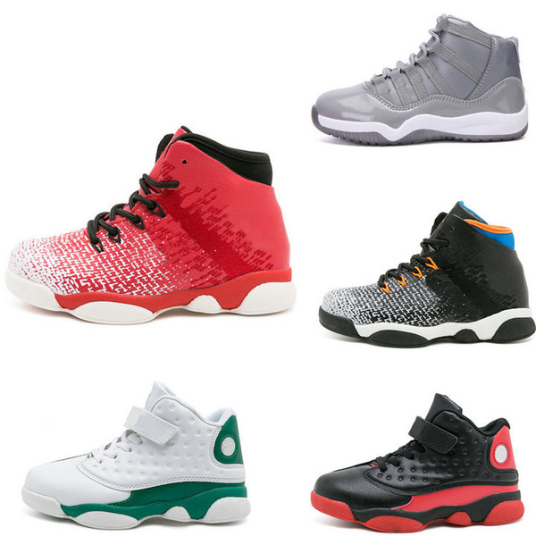 Retail big kids shoes Children non-slip high hips sport running shoes youth boys basketball shoes size 5 girls designer shoe Kids Sneakers