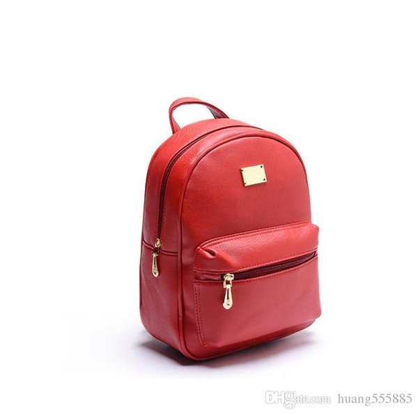 Brand female backpack Fashion brand bags hot sale in Europe and the cross grain quality rivet package free shipping