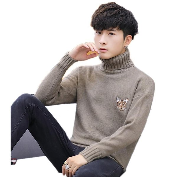 New spring and autumn Casual Men's Sweater Turtleneck sweater Slim Fit Knittwear Mens Sweaters Pullovers bottoming shirt