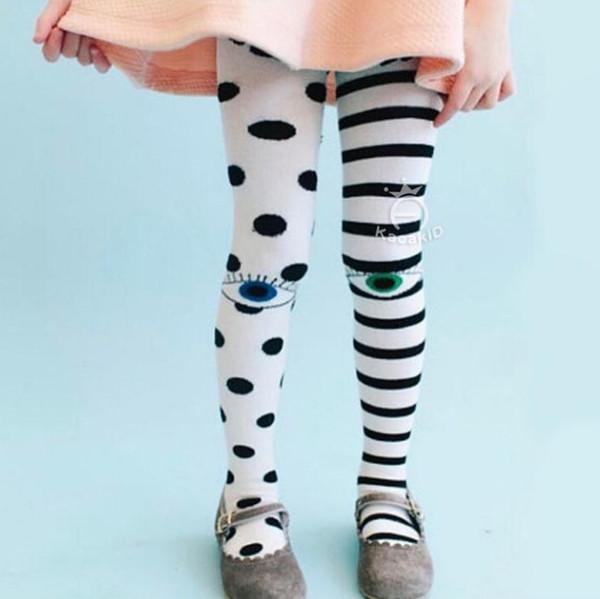 Collant bambini Collant Dots Stripe Cute Baby Girl Collant Collant Lovely Cotton Eyes Bambini Ragazza Collant