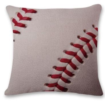 #6 Baseball Throw Pillow Case