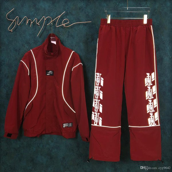 New Autumn Sports Suit with irregular running pants, hoodies, zipper and belt trousers for men and women 0236