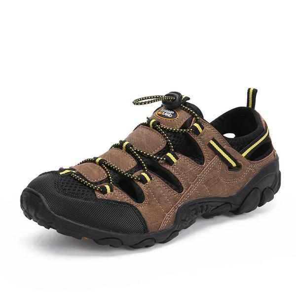 Fashion Summer Shoes Men Breathable Beach Sandals Casual Shoes Outdoor Clogs Creek Flip Flops Slippers Sandalias Hombre