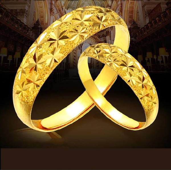 style gold brass gold-plated head ornament ring female imitation gold stars couples ring ladies men ring