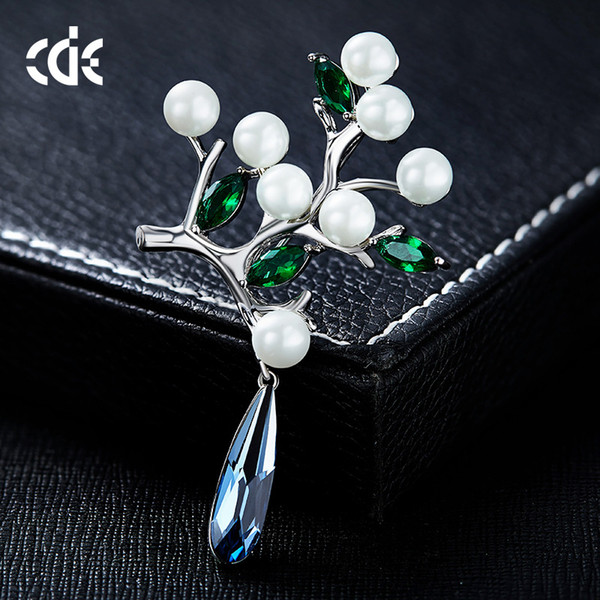 wedding party beaded pearl gift woman lady diamond jewelry brooches for bride acting initiation graduation cde-1292
