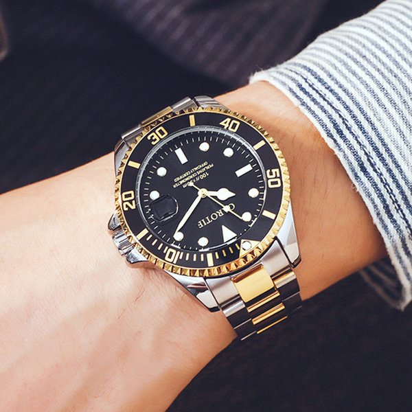 top popular TOP New Men's Automatic Mechanical Watch Waterproof Stainless Steel Famous Brand Designer Luxury Fashion Business Men Sport Wristwatch Clock 2019