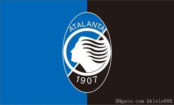 Bandera de Atalanta BC 90 x 150 cm Poliéster Atalanta Bergamasca Calcio Italia Fútbol Club Deportes Banner