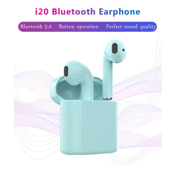 Newest i20 TWS Wireless Headphone Bluetooth 5.0 Headset Earbuds Stereo Sports Earphone Game Headsets Earphones For iPhone Xiaomi Huawei
