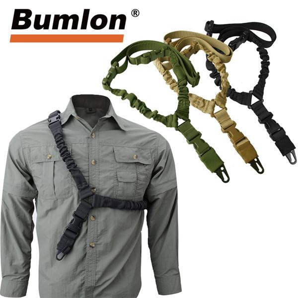 Cintura tattica regolabile per pistola Sling Single Point 1000D Heavy Duty Bungee Fucile militare Kit di cinturini Airsoft Strap HT30-0001