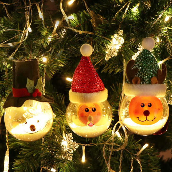 Christmas Tree Toys Decoration.3 Style Transparent Christmas Ball Led Ornament Christmas Tree Ornaments Toys New Year S Products Xmas Gifts Paper Christmas Decorations Personalised