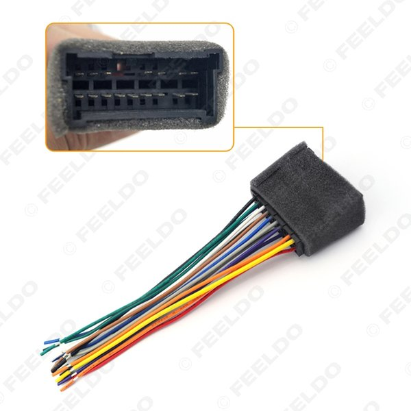 Car OEM Audio Stereo Wiring Harness Adapter For Hyundai/KIA(01~05) Install Aftermarket CD/DVD Stereo SKU#:2053