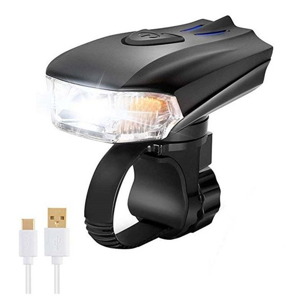 500 Lumens USB Rechargeable Bike Cycling Front Light 1200mAh Smart LED Mtb Bright Anti-glare Bicycle Headlight #181426