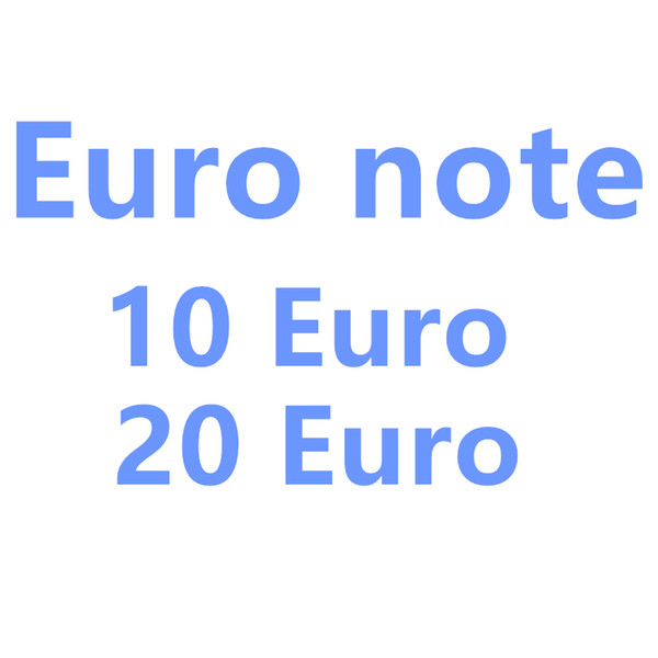 top popular 2020 New 10 20 50 100 Euro fake money billet Movie money faux billet euro 20 play Collection and Gifts 2020