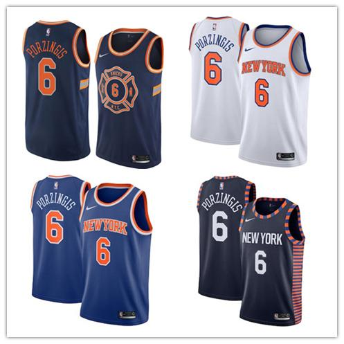 cheaper a8d6e 54bd5 New York Kristaps Porzingis Knicks 2018/19 Swingman Basketball Association  City Jersey Edition One T Shirt A Day One Day T Shirt From Goodtopnew10, ...