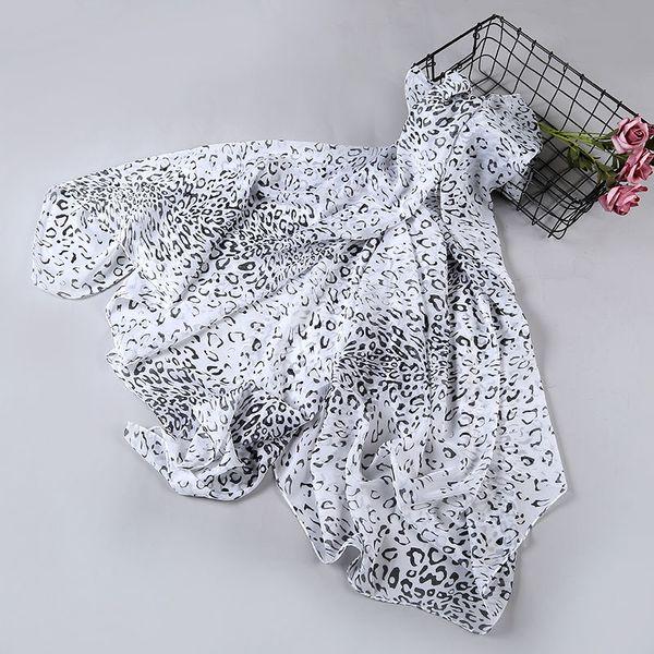 Fashion Luxury Designer Cashmere Scarves Polyester Women Leopard Print shawls Light Embroidery Scarf Hot Sale 160*50 cm Wholesale