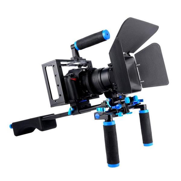 Yelangu DSLR Rig Camera Cage Kit Shoulder Stabilizer System Video Rig For Canon 5D Mark III IV 6D 7D Nikon D7200 Sony A7 GH5 GH4