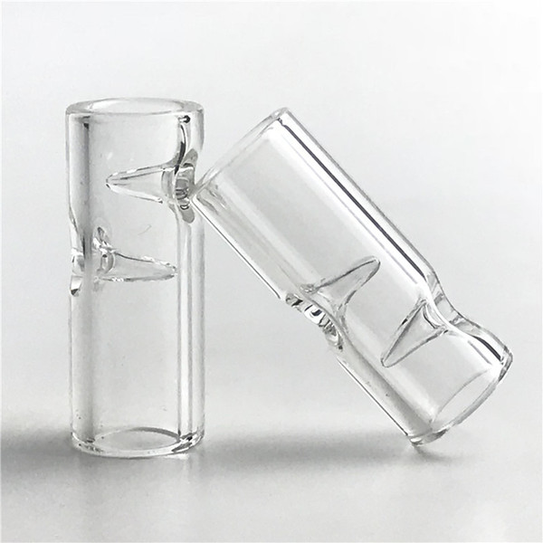 top popular Mini Glass Filter Tips XL Big Size With 30mm * 7mm Clear Pyrex Glass 2mm Thick Filter Tip For Tobacco Glass Smoking 2021