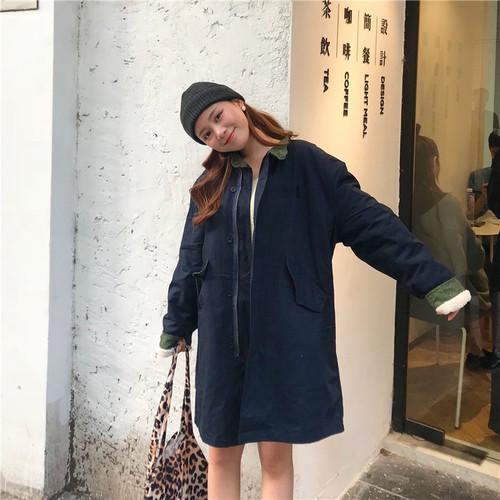 Uzun Tasarım Basit Cep Katı Patchwork Dış Giyim Kalın Kadife 2018 Yeni Kış Sıcak Uzun Kollu Kadın Kadın Palto