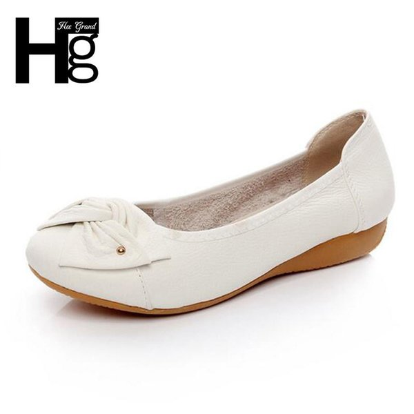 2019 HEE GRAND Daily Soft Comfortable Women Shoes Knot Round Toe Slip On Casual Mother's Shoes Plus Size XWD2390