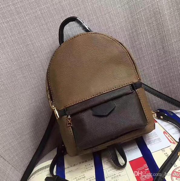 5490f9800f16 Высокое качество женский Palm Springs Mini Рюкзак из натуральной кожи,  детские рюкзаки, женская печать