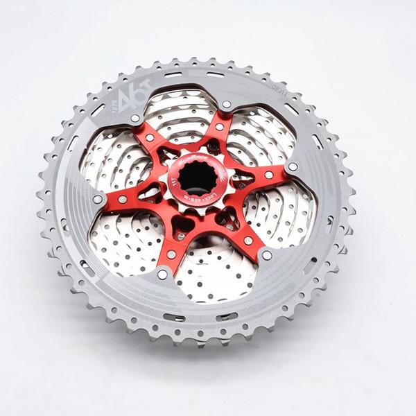 Silver SunRace CS MX8 11 Speed Wide Ratio 11-46T Mountain Bike Cassette