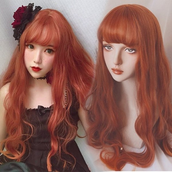 Light Ginger Auburn Mix Ladies Wig Long Wavy Natural Skin Top Long Blonde Wigs Cosplay Chobits From Neverend55 14 08 Dhgate Com
