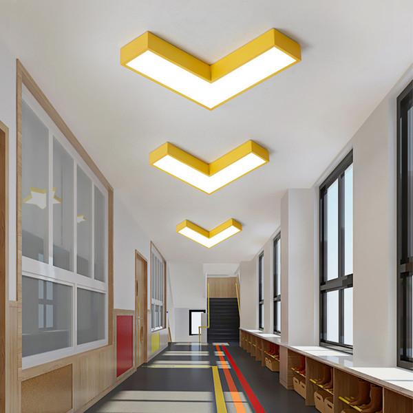 Ultra thin 5cm High brightness Colorful arrow Ceiling lamp Porch corridor LED lighting fixture for Children's room lighting