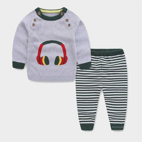 BibiCola primavera otoño ropa para niñas establece suéter de algodón ropa niños niña chándal ocio niño niñas traje casual de dibujos animados