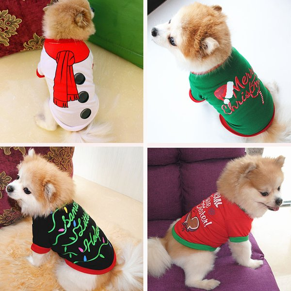 Pet Dog Clothes Christmas Puppy Dog Costume Cartoon Pet Clothes for Small Dogs Costume Xmas Pet Apparel for Kitty Dogs Chihuahua