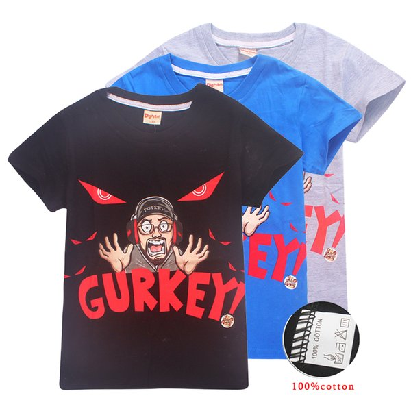 GURKEY FUNnel Vision FGTeeV Family Gaming Team Kids Tee shirts 4 Colors 6-14t Boys Girls Cotton T shirts Tees kids designer clothes SS213